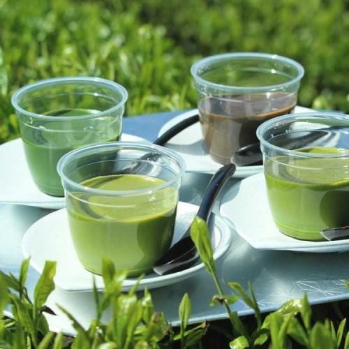 新茶の濃厚宇治茶プリン食べ比べセット2021(3種 計4個)