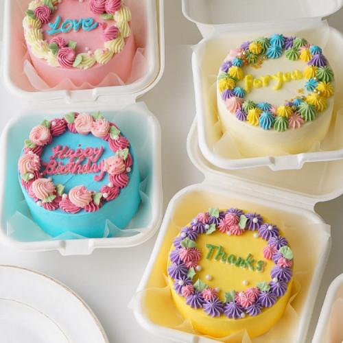 ランチボックスケーキ 10cm 1個 【デザインが選べる/センイルケーキ】
