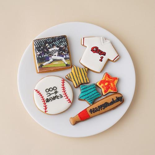 ★合計7枚/選べるから嬉しい★フォトクッキーセット(野球)