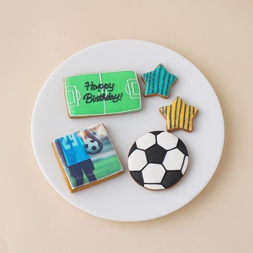 ★合計5枚/選べるから嬉しい★フォトクッキーセット(サッカー)