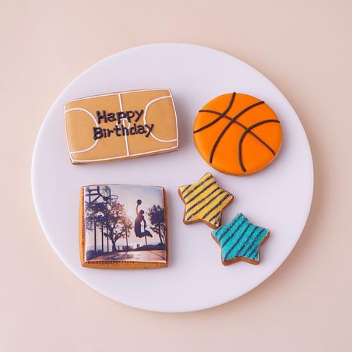 ★合計5枚/選べるから嬉しい★フォトクッキーセット(バスケ)