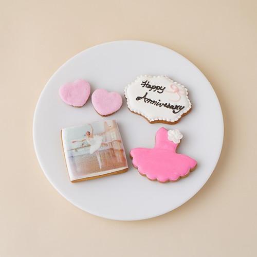 ★合計5枚/選べるから嬉しい★フォトクッキーセット(バレエ)