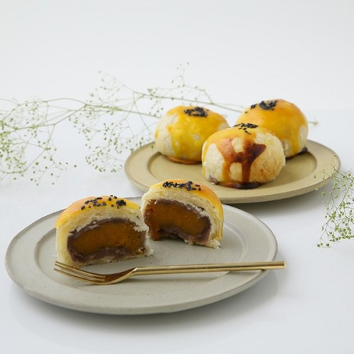 vegan 小豆餡卵黄ケーキ 4個入【ヴィーガンスイーツ】