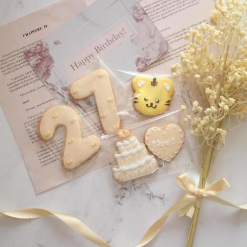 【トラ誕生日セット】アイシングクッキー
