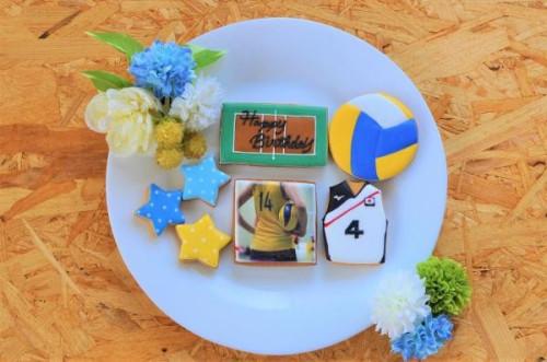 ★合計7枚/選べるから嬉しい★フォトクッキーセット(バレー)