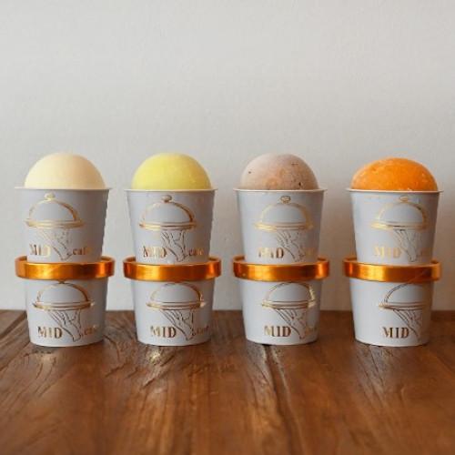 【MID cafe】アイスクリーム詰め合わせセット【リッチミルク、メロンソルベ、マンゴーソルベ、チャイ各種1個 計4個セット】