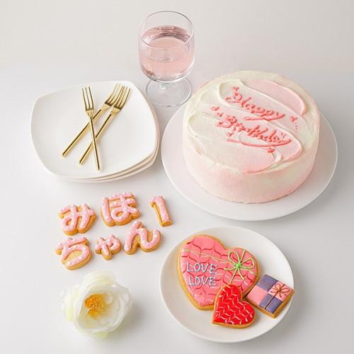センイルケーキ 名前付き選べるアイシングクッキー 赤 6号