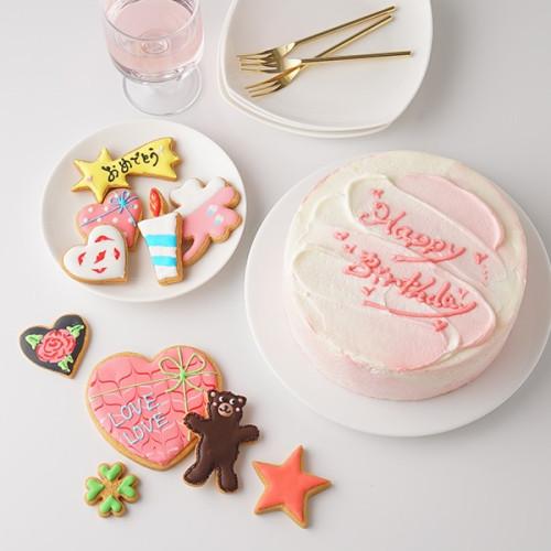 センイルケーキ 選んで楽しい アイシングクッキー 赤 6号