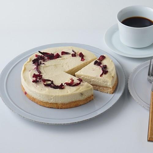 【compassion】オーガニック デーツとハイビスカスのローチーズケーキ 15cm 【ヴィーガン・グルテンフリー】