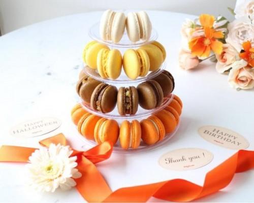 秋のマカロンタワー【Autumn Spicy Orange】秋スイーツ2021 ハロウィン2021