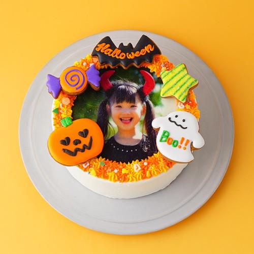 ☆大人気☆ハロウィン限定!フォトケーキ~飾りつけを楽しんで~ 5号【ハロウィン2021】