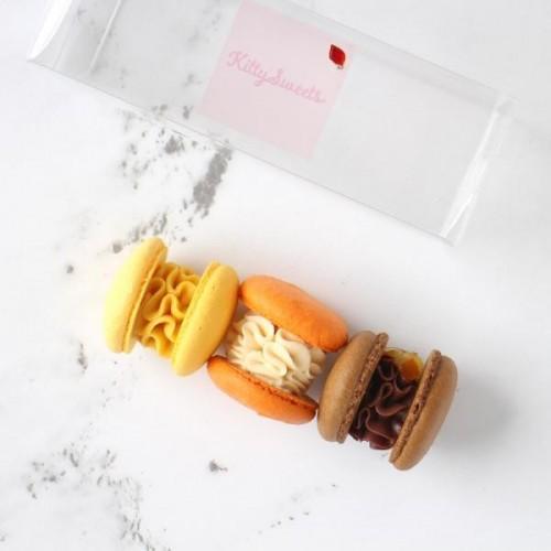 秋のトゥンカロン 3個入りクリスタルボックス【秋スイーツ2021】