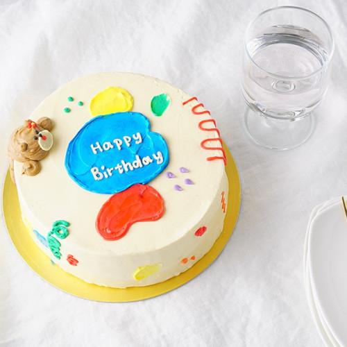 くまのカラフルセンイルケーキ 4号