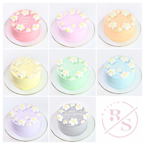 限定特別価格☆センイルケーキ花づくし♡選べる8色♪ 4号