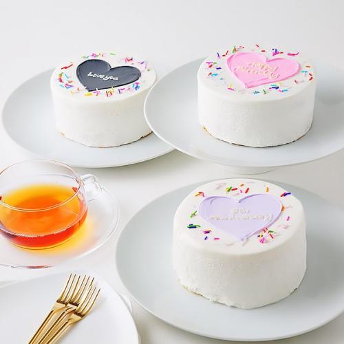 カラフルトッピング付♡ハートセンイルケーキ♪選べる8色 4号