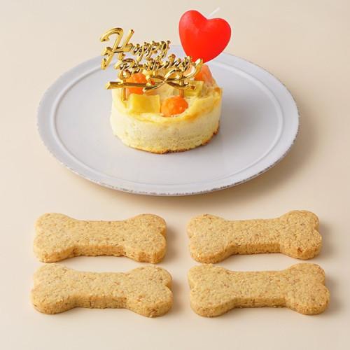 犬用 バースデーケーキ ベイクドチーズ 2号サイズ (80g)【 超小型犬~小型犬 用 】