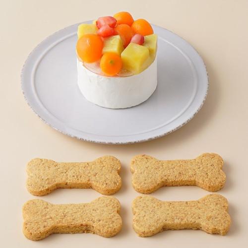 犬用 バースデーケーキ クリームデコレーション 2号サイズ(120g)【 小型犬~中型犬 用 】オーナメント無し