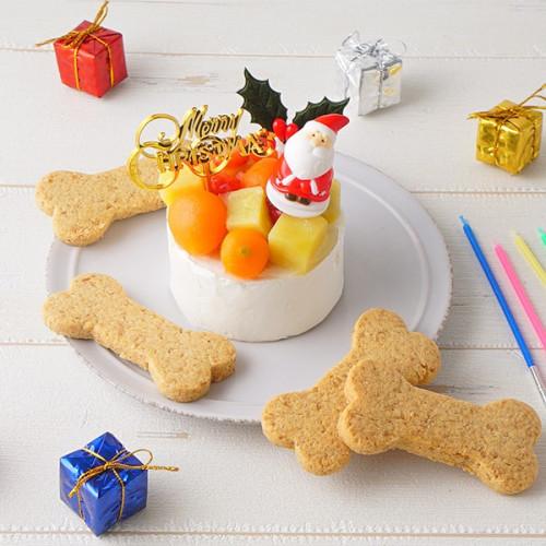 犬用 クリスマスケーキ クリームデコレーション 2号サイズ(120g)【 小型犬~中型犬 用 】【クリスマス2021】