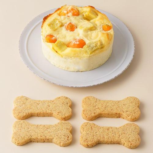 犬用 バースデーケーキ ベイクドチーズ 3号サイズ (150g)【 小型犬~中型犬 用 】オーナメント無し