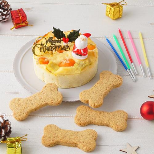 犬用 クリスマスケーキ ベイクドチーズ 3号サイズ (150g)【 小型犬~中型犬 用 】【クリスマス2021】