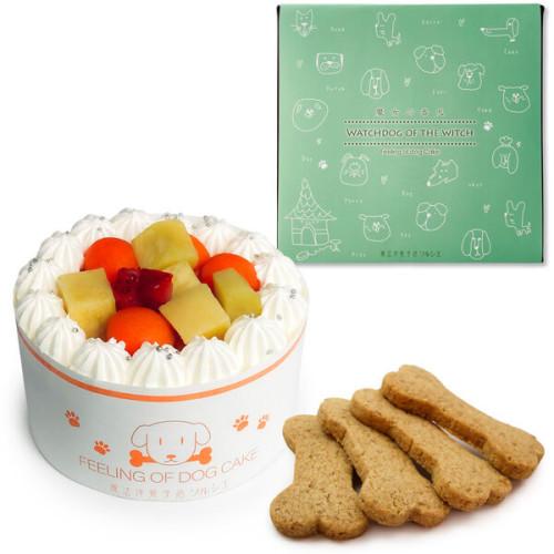 犬用 バースデーケーキ クリームデコレーション 3号サイズ (260g)【 中型犬~大型犬 用 】オーナメント無し