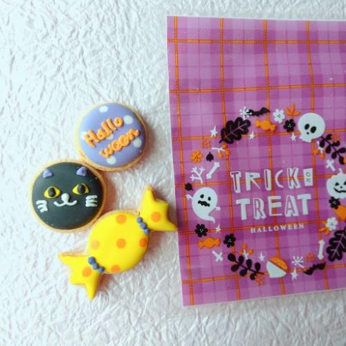 【ハロウィン2021】アイシングクッキー 大3枚セット