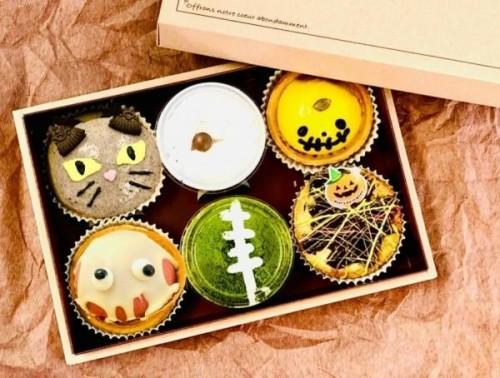 【メディアで多数紹介!】Halloweenセット 焼きチーズタルト4個+カップスイーツ2個【ハロウィン2021】