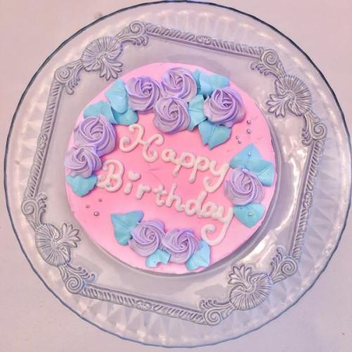 カスタムローズケーキ 4号【センイルケーキ】