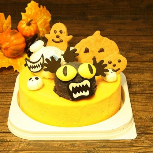 ハロウィンかぼちゃのモンスターアイスケーキ 5号【ハロウィン2021】