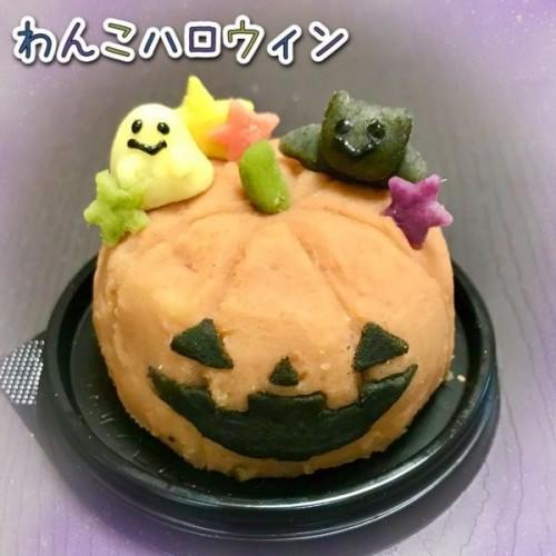 わんこハロウィン★米粉ケーキとさつまいも【ハロウィン2021】