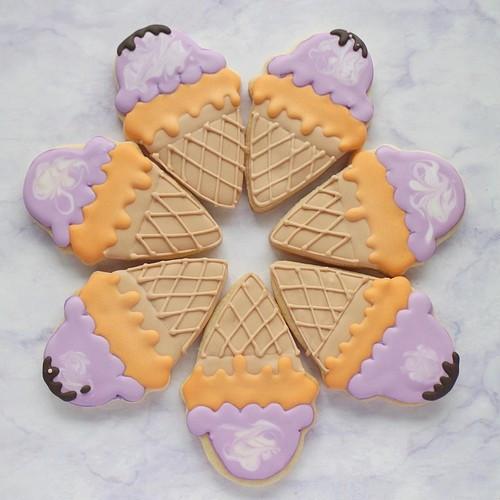 【アイスクリーム】アイシングクッキー 1枚 【ハロウィン2021】