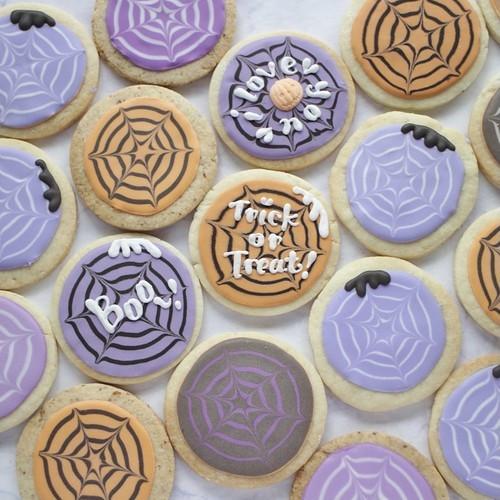 【スパイダー】アイシングクッキー 1枚 【ハロウィン2021】