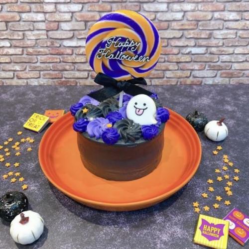ハロウィンケーキ♡キャンディ付き♪お化けクッキー♪ 4号【ハロウィン2021】