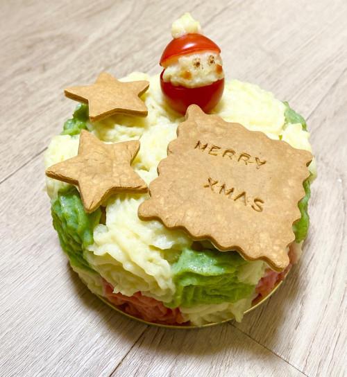 犬猫用ケーキ 4号【クリスマス2021】