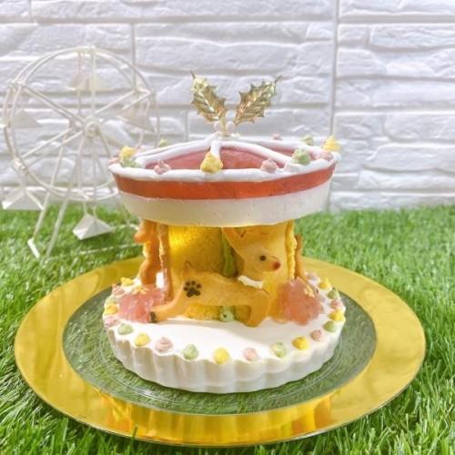 【犬用】クリスマスケーキ『メリクリゴーランド』【クリスマス2021】
