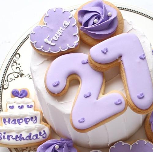 【ローズ誕生日セット】アイシングクッキー