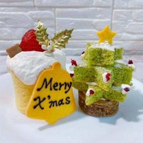 【犬用】ミニクリスマスケーキセット【クリスマス2021】