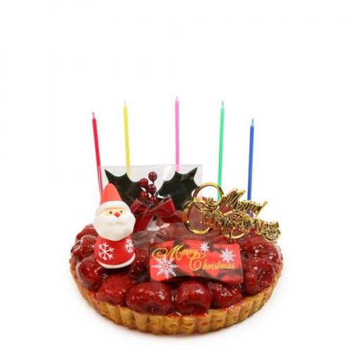 苺のコンポートタルトケーキ Xmas飾り付 5号 16cm   魔法洋菓子店ソルシエ【クリスマス2021】