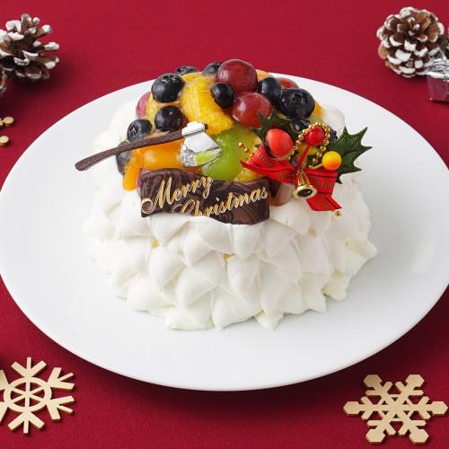 フルーツ超盛り【デコレーションケーキ】 4号【クリスマス2021】