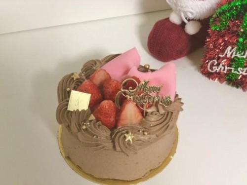 クリスマスケーキ チョコレートリボンケーキ 4号【クリスマス2021】