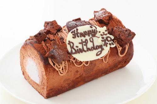 濃厚チョコレートクリームデコレーションロールケーキ 13.5cm