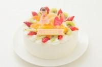 母の日に!丸型デコレーションケーキ 5号 15cm