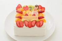 母の日に!角型デコレーションケーキ 5号 15cm