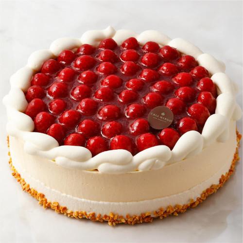 最高級洋菓子 シュス木苺レアチーズケーキ 30cm