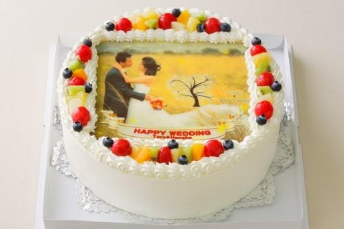 写真ケーキ中パーティ用 9号  27cm