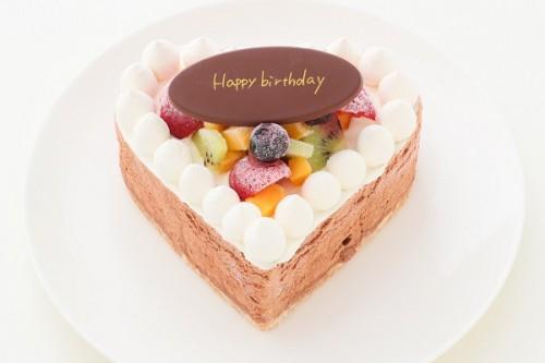 たっぷりフルーツのハートのチョコアイスケーキ 4号 11cm