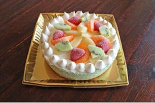 たっぷりフルーツの抹茶アイスケーキ 5号 15cm