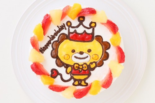 キャラクターケーキ 生クリーム 4号 12cm ※フルーツのトッピングはありません