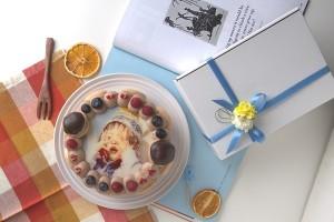 オーダーメード写真ケーキ(チョコクリーム)15cm(3〜4人用)(1027)