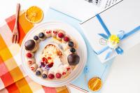 オーダーメード写真ケーキ(チョコクリーム)15cm(3~4人用)(1027)